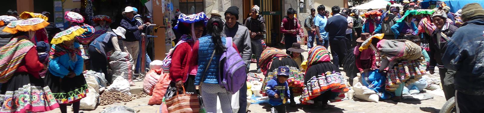 Markt in Ccatccapampa, Peru