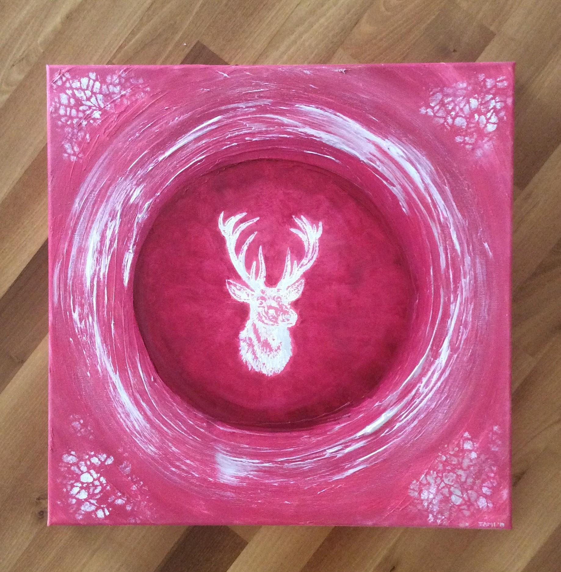 White Deer (50 x 50 / Acryl)