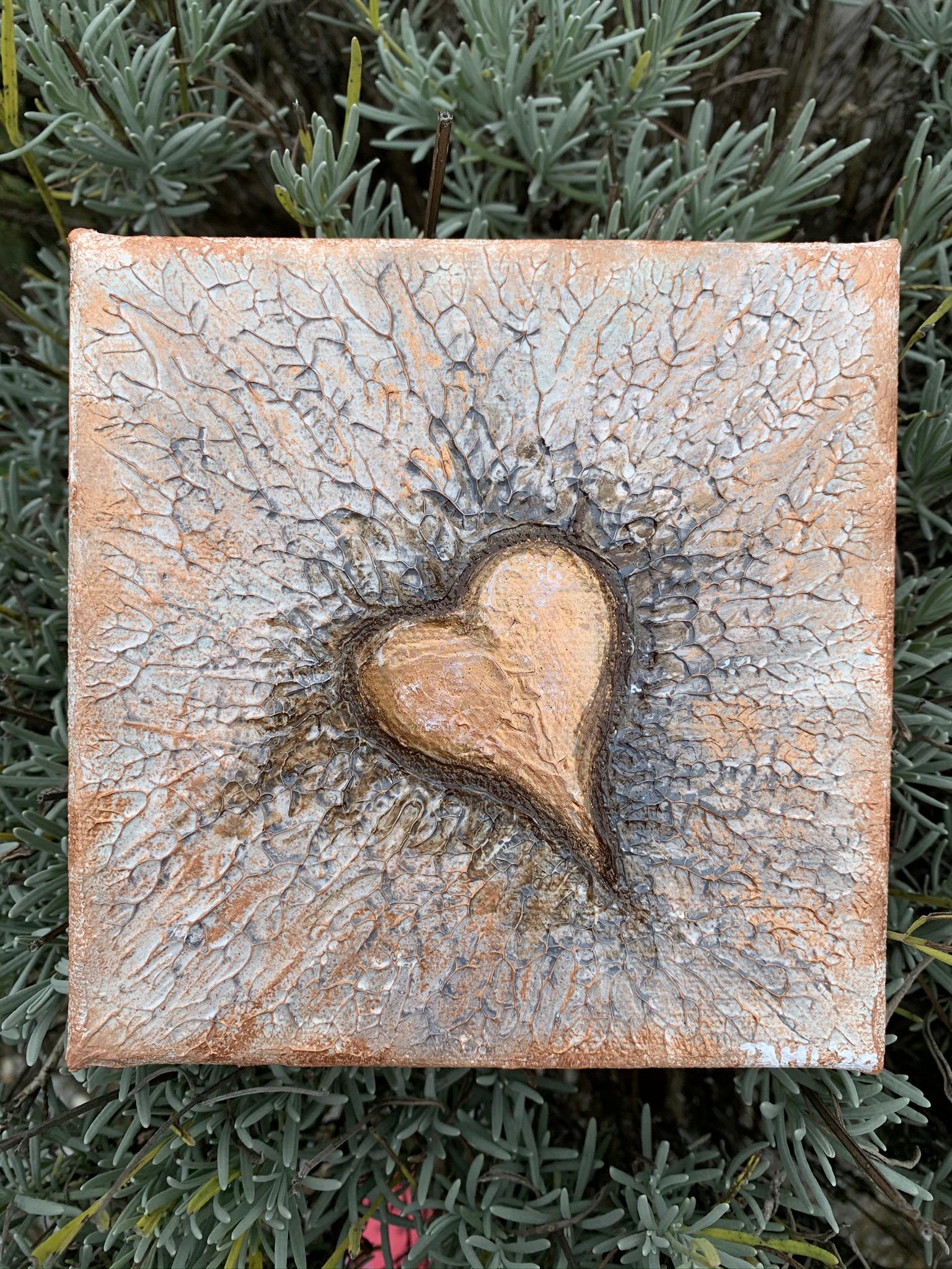 Heart  (15x15 / Acryl + Strukturpaste)