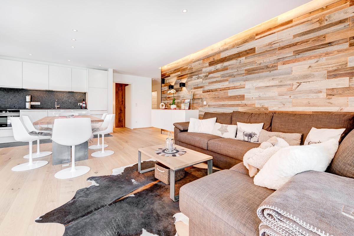 Appartement Zimbablick, Montafon, Vorarlberg - offener Wohnbereich