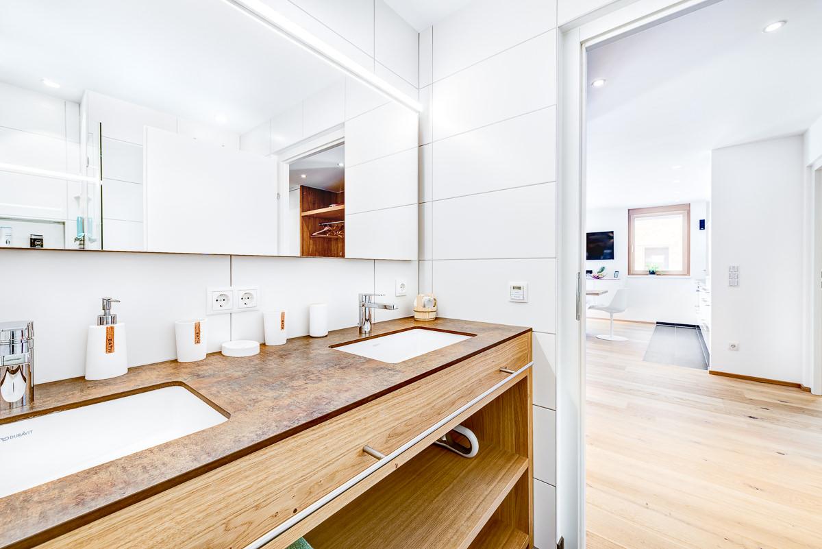 Appartement Zimbablick, Montafon, Vorarlberg - Bad mit Regendusche
