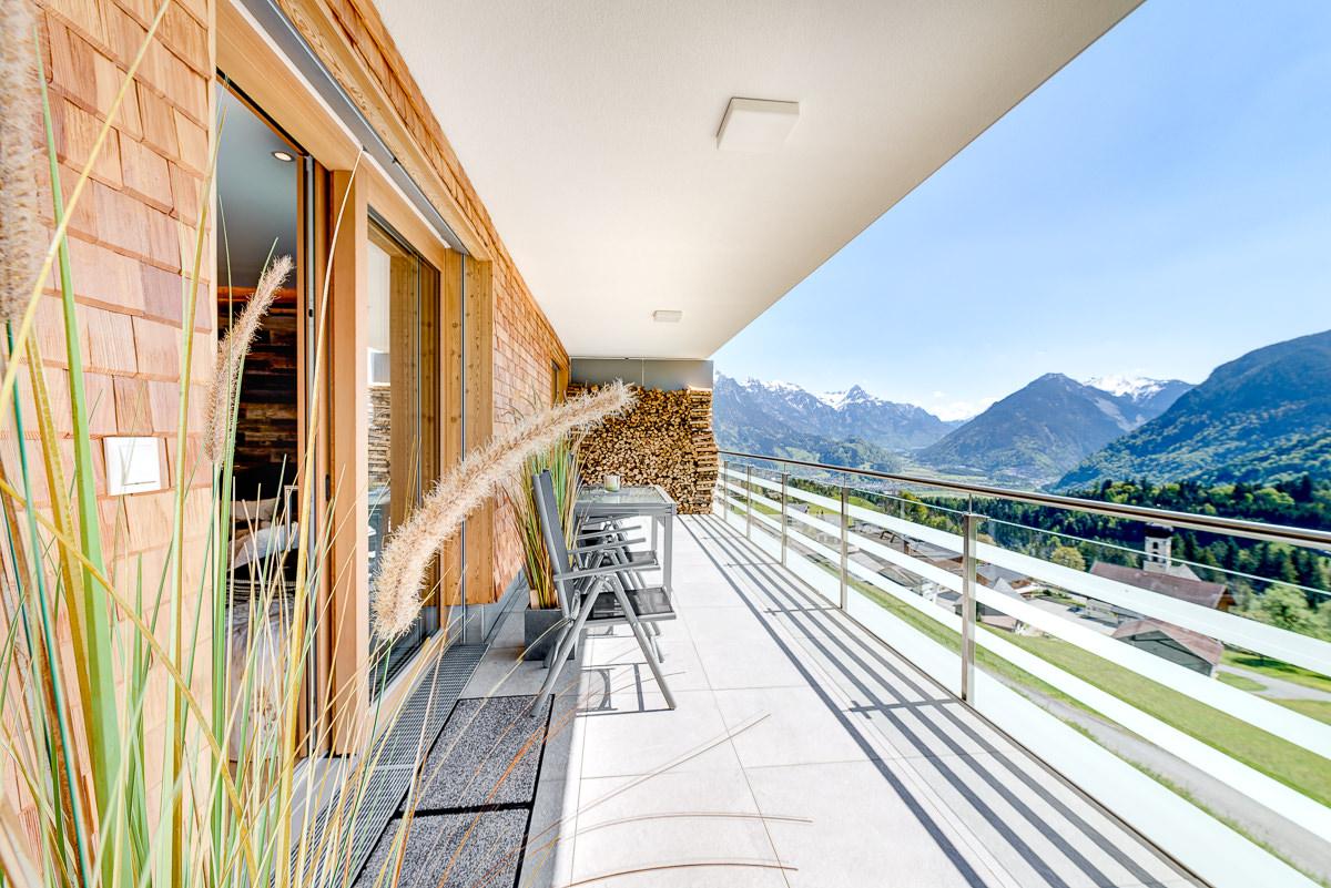 Appartement Zimbablick, Montafon, Vorarlberg - Sonnenbalkon