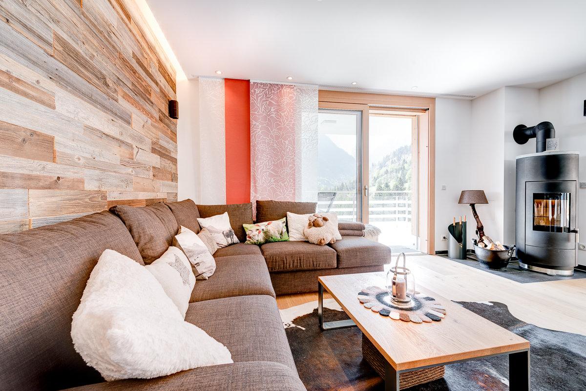 Ferienwohnung Zimbablick, Montafon, Vorarlberg - Wohnzimmer