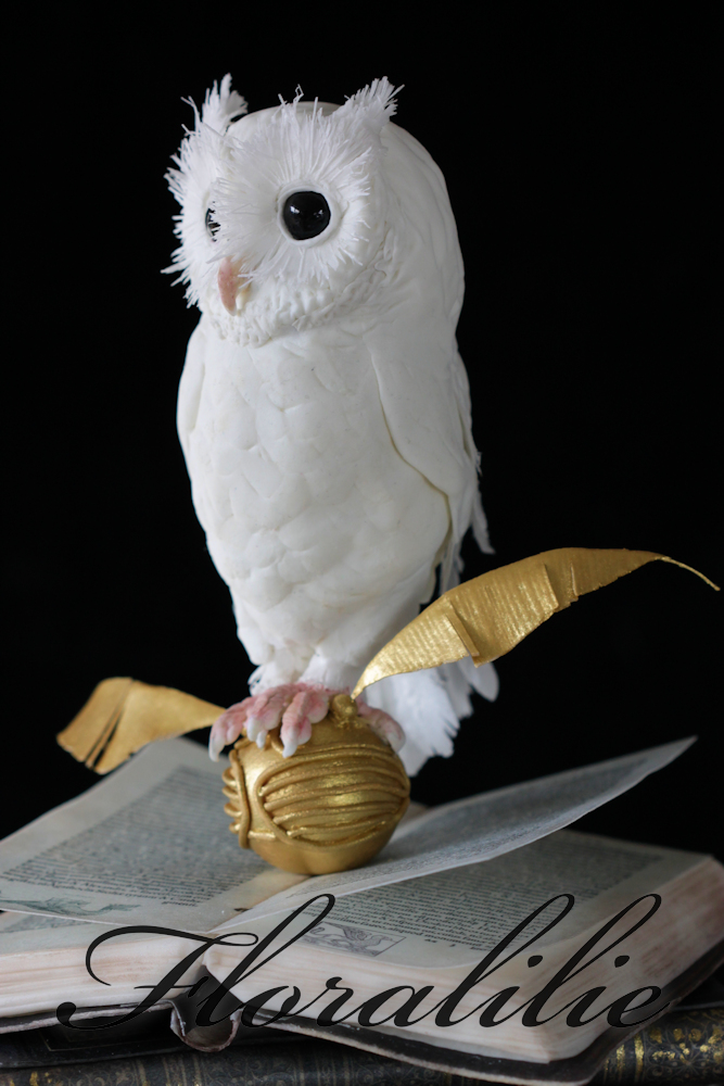 Harry Potter Cake with a White Owl | Floralilie Sugar Art