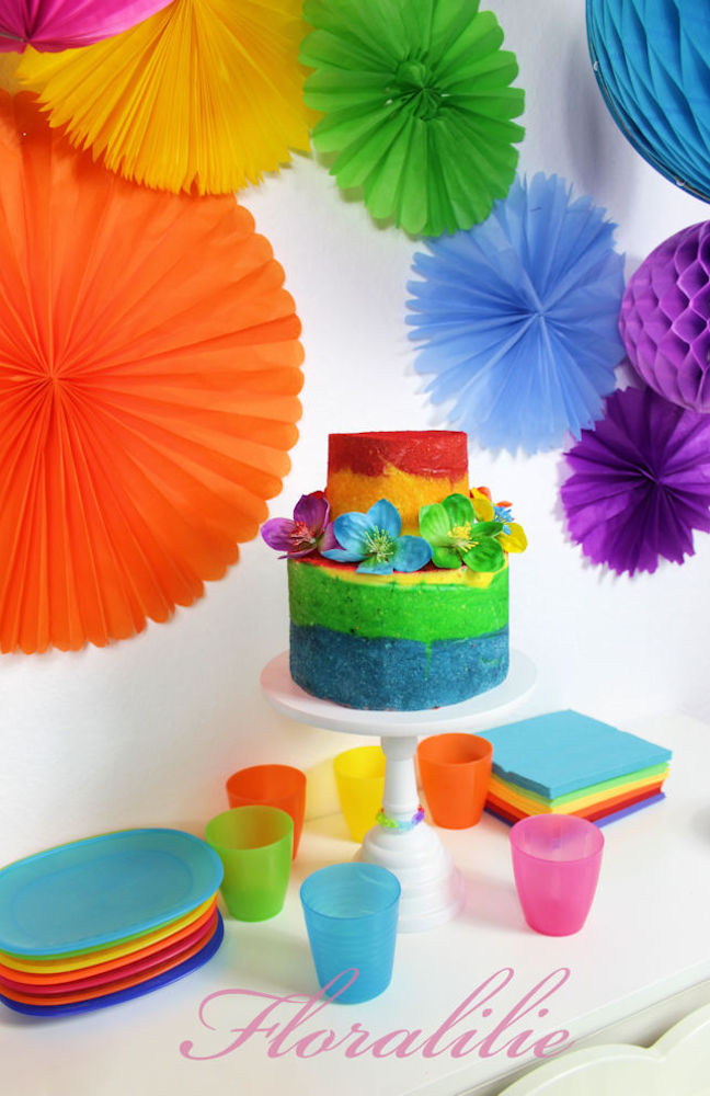 Rainbow Cake | Floralilie Sugar Art