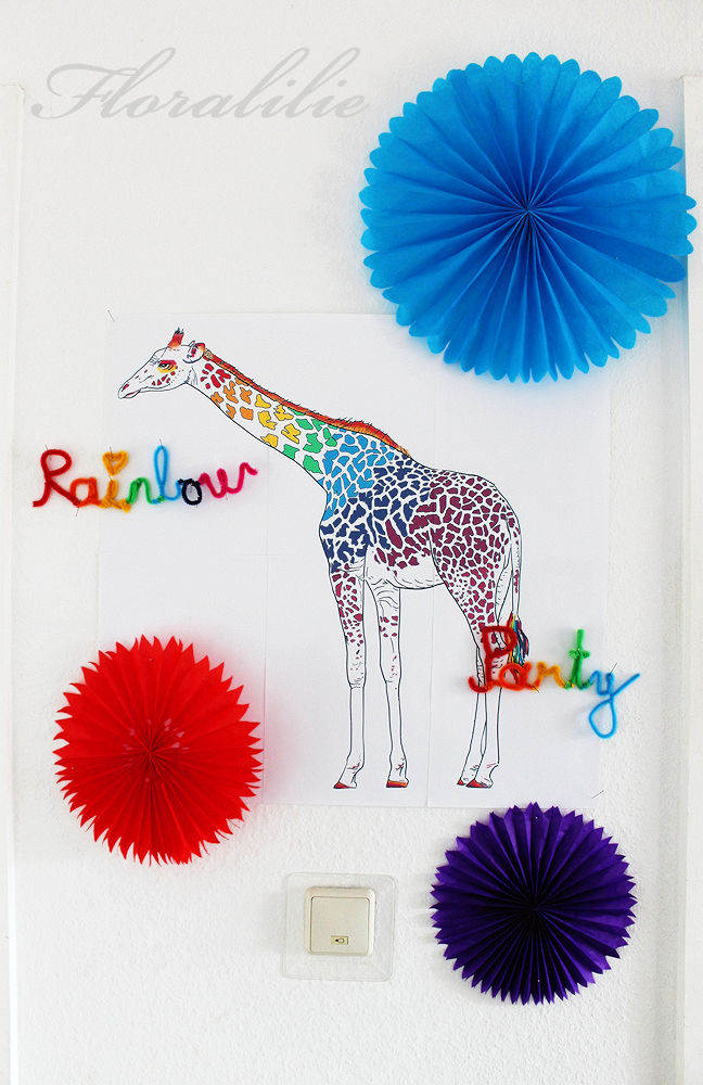 Rainbow Party Decorations | Floralilie Sugar Art