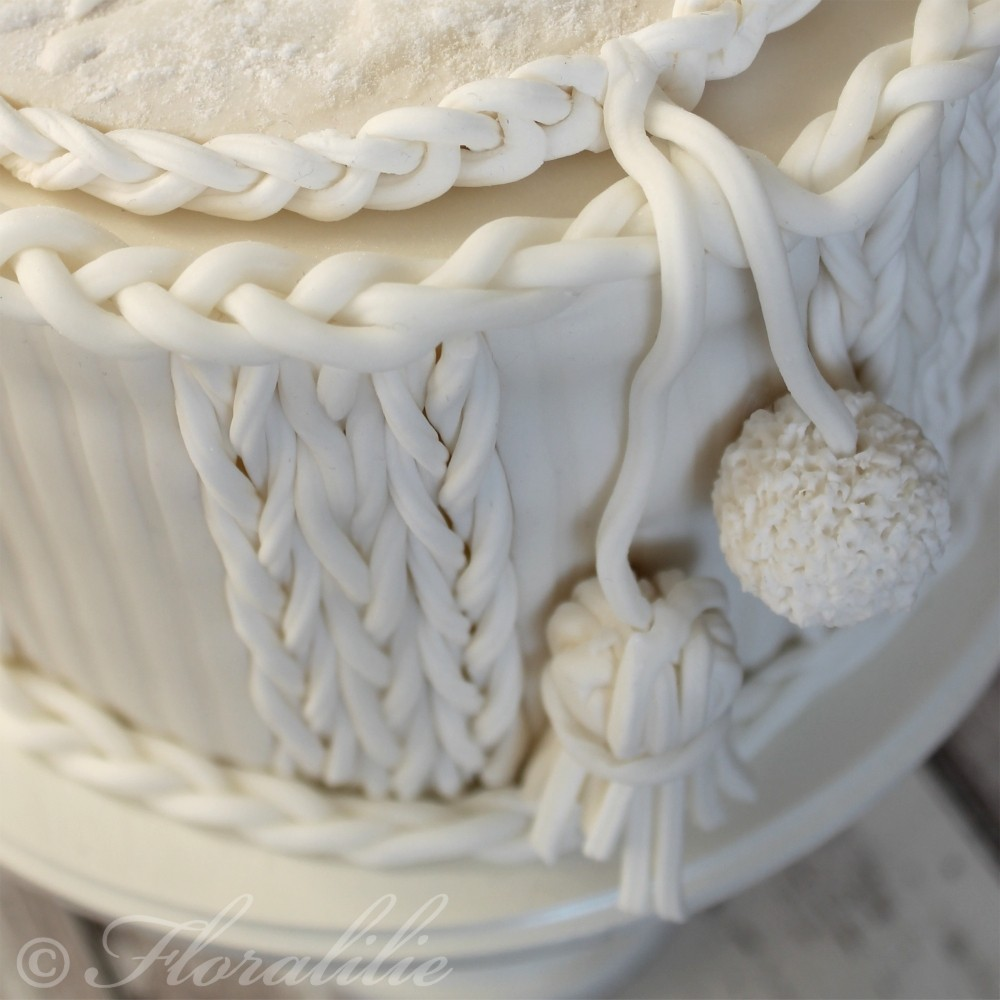 Detail Fondant Strick | Floralilie Sugar Art