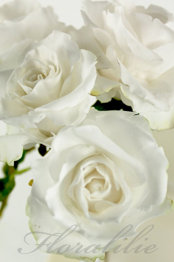 White Wedding Cake  | Floralilie Sugar Art