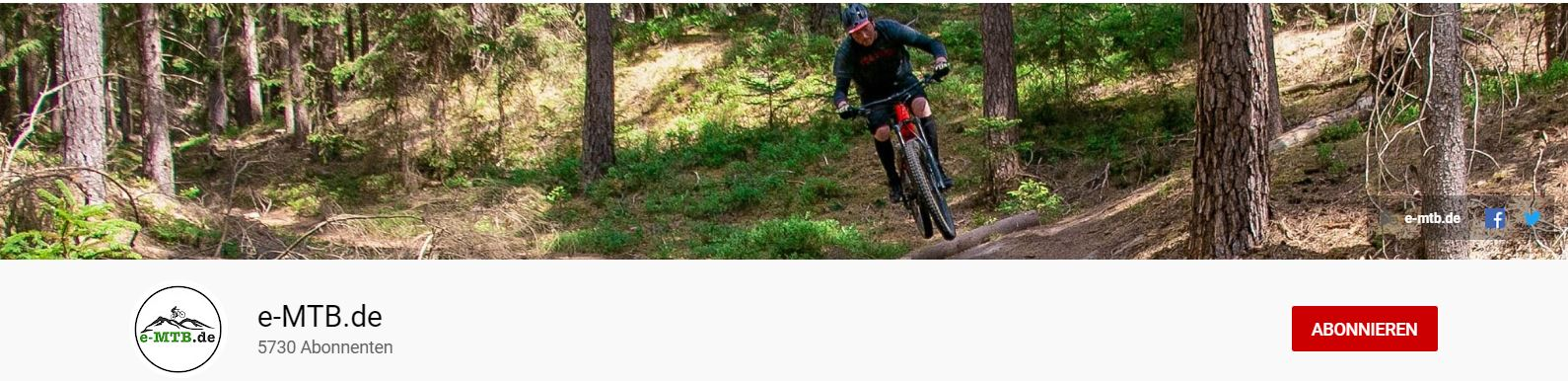 Der e-MTB.de Youtube Kanal mit allen e-Mountainbike Testfahrten