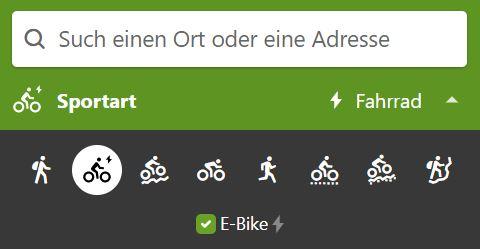 Einstellungen für das e-Bike vornehmen
