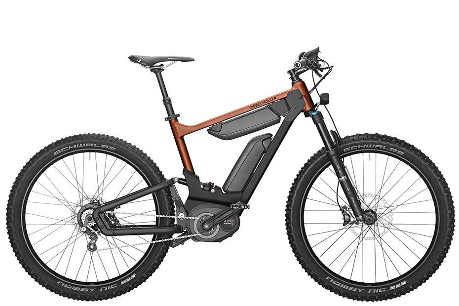 Riese & Müller Delite mountain rohloff 2019 in solar orange metallic