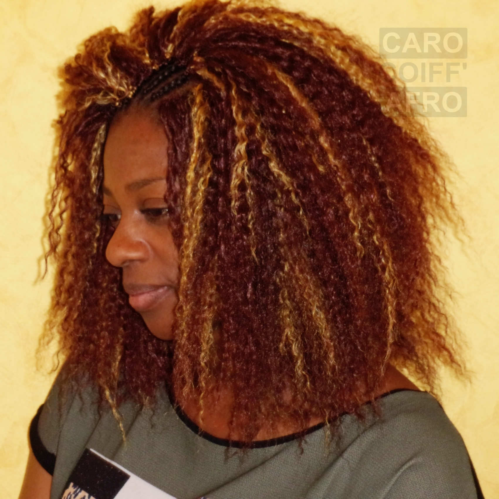 Coiffure crochet Braid