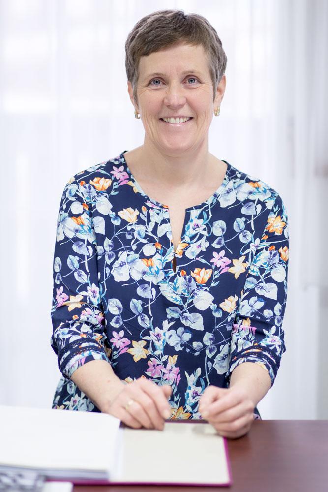 Christine Buchauer: Leitet die Kochvorführungen und die Buchhaltung