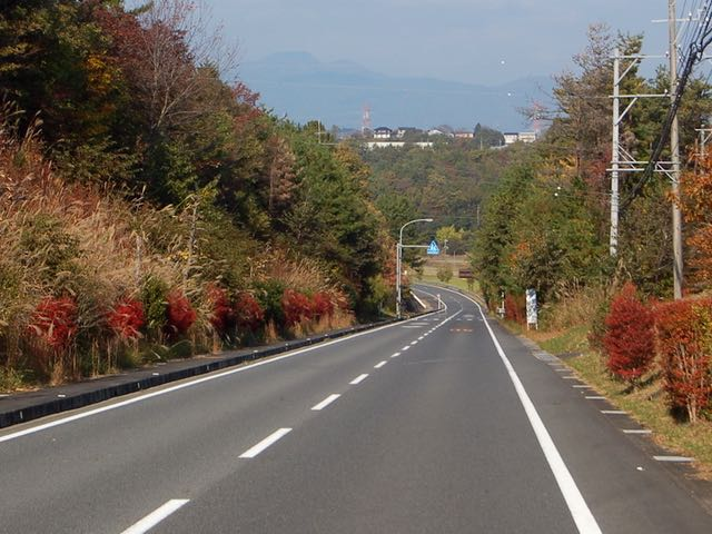 信号の少ない気持ちの良い道で恵那峡へ