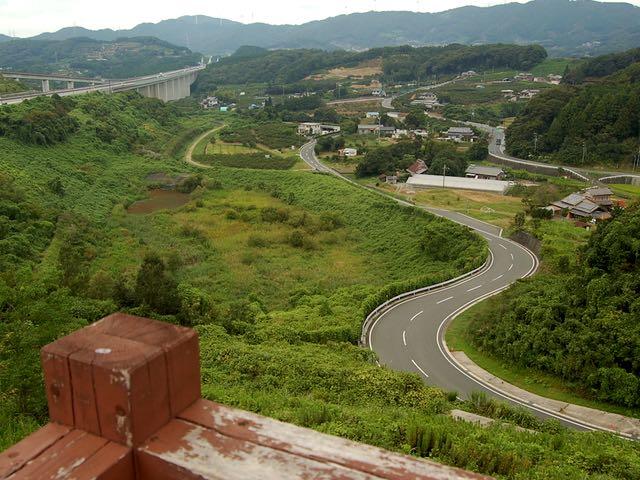 浜松サービスエリアから県道303方面を眺める