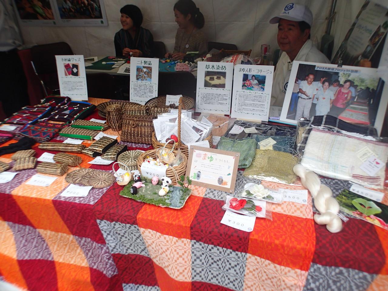 プロジェクト実施国にて作られた数多くの製品