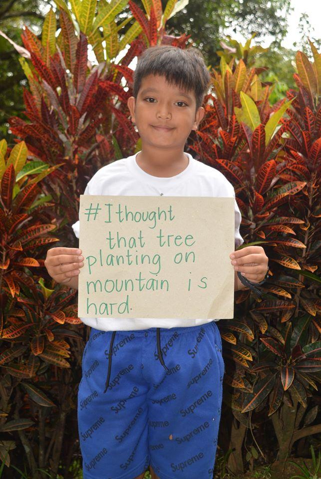 #私が思ったこと 山での植林活動は大変です