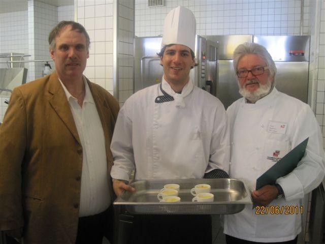 Stafan Scharmer mit Vater und Fritz Kathrein