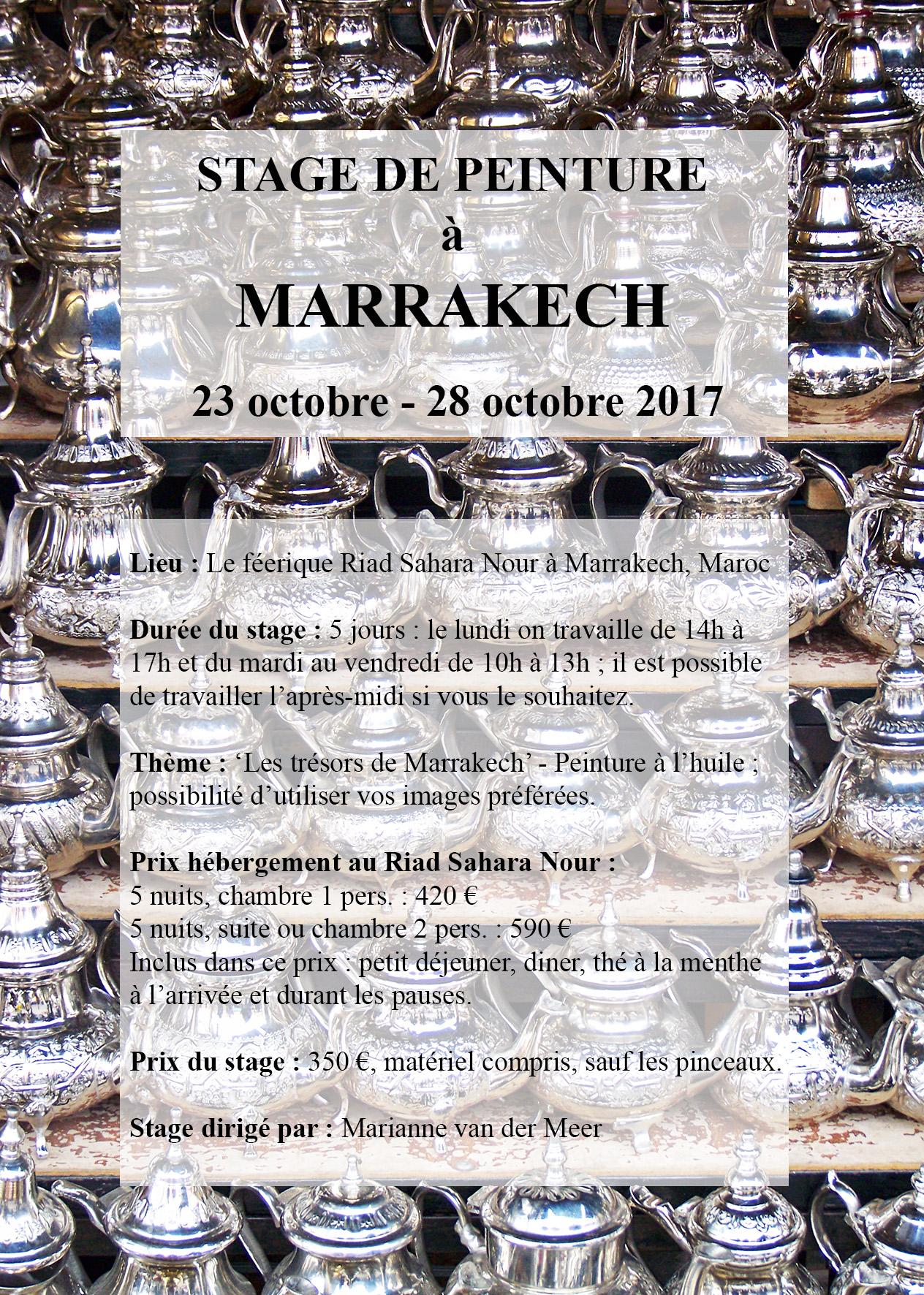 STAGE DE PEINTURE A MARRAKECH 23 28 OCT 2017 Site de l Atelier