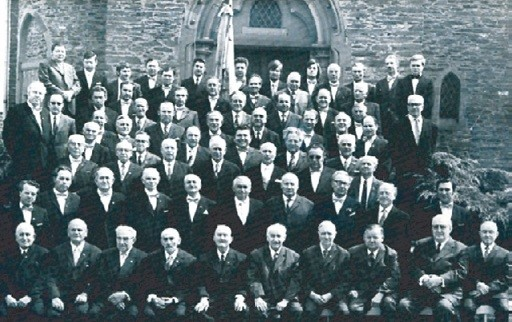 Der Männerchorder Gesangvereins Wernborn