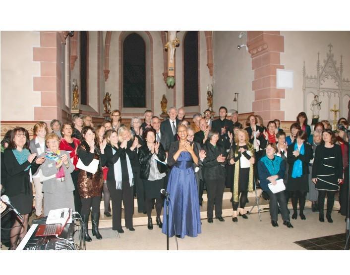 Das Konzert mit Adrienne Morgan Hammond zum Abschluss des Gospelworkshops in Wernborn  2014