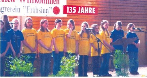 Auftritt des Jugendchors Youngsters  aus Wernborn 2008