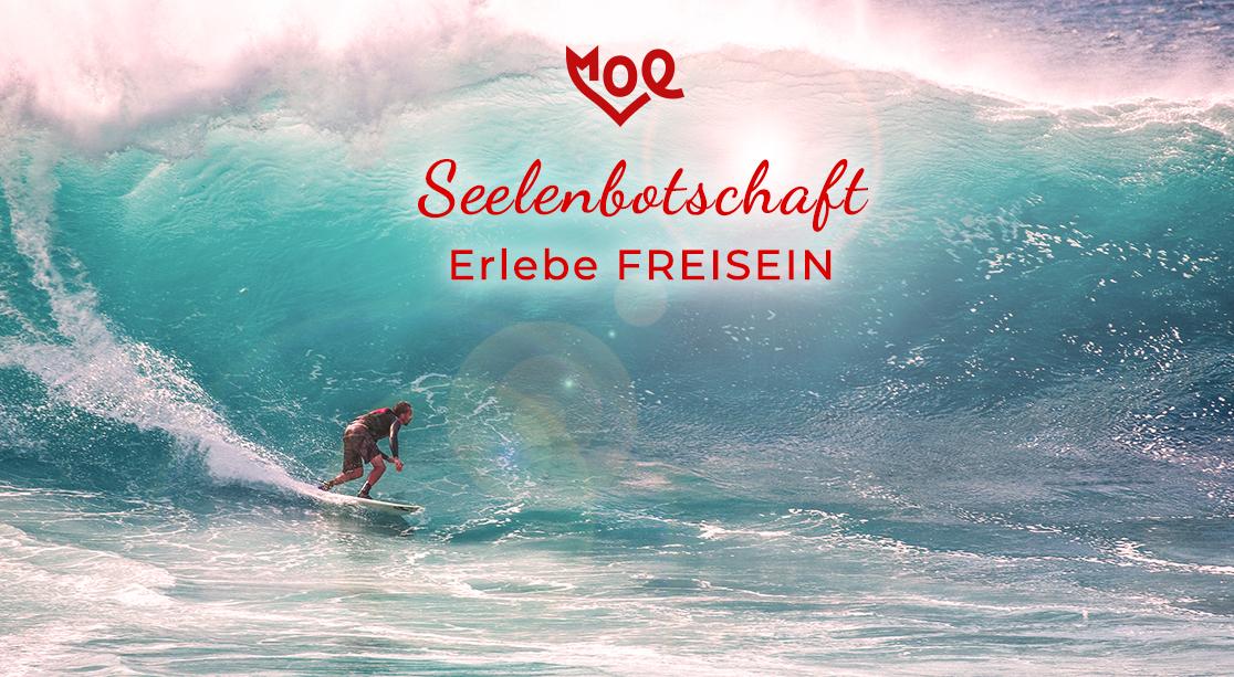 Erlebe FREISEIN - moe Channeling Seelebotschaft April