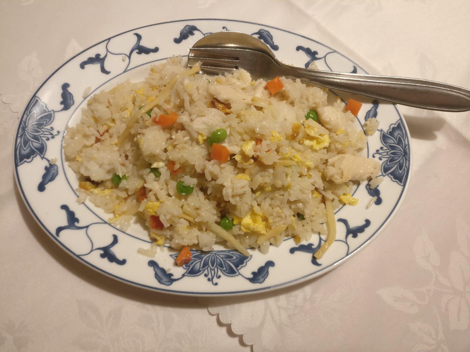 Gebratener Reis mit Hühnerfleisch