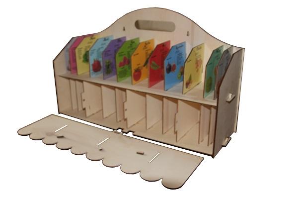 Découpe laser meuble rangement graines semis pour potager . Disponible à la vente içi
