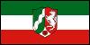 Flagge von Nordrhein-Westfalen