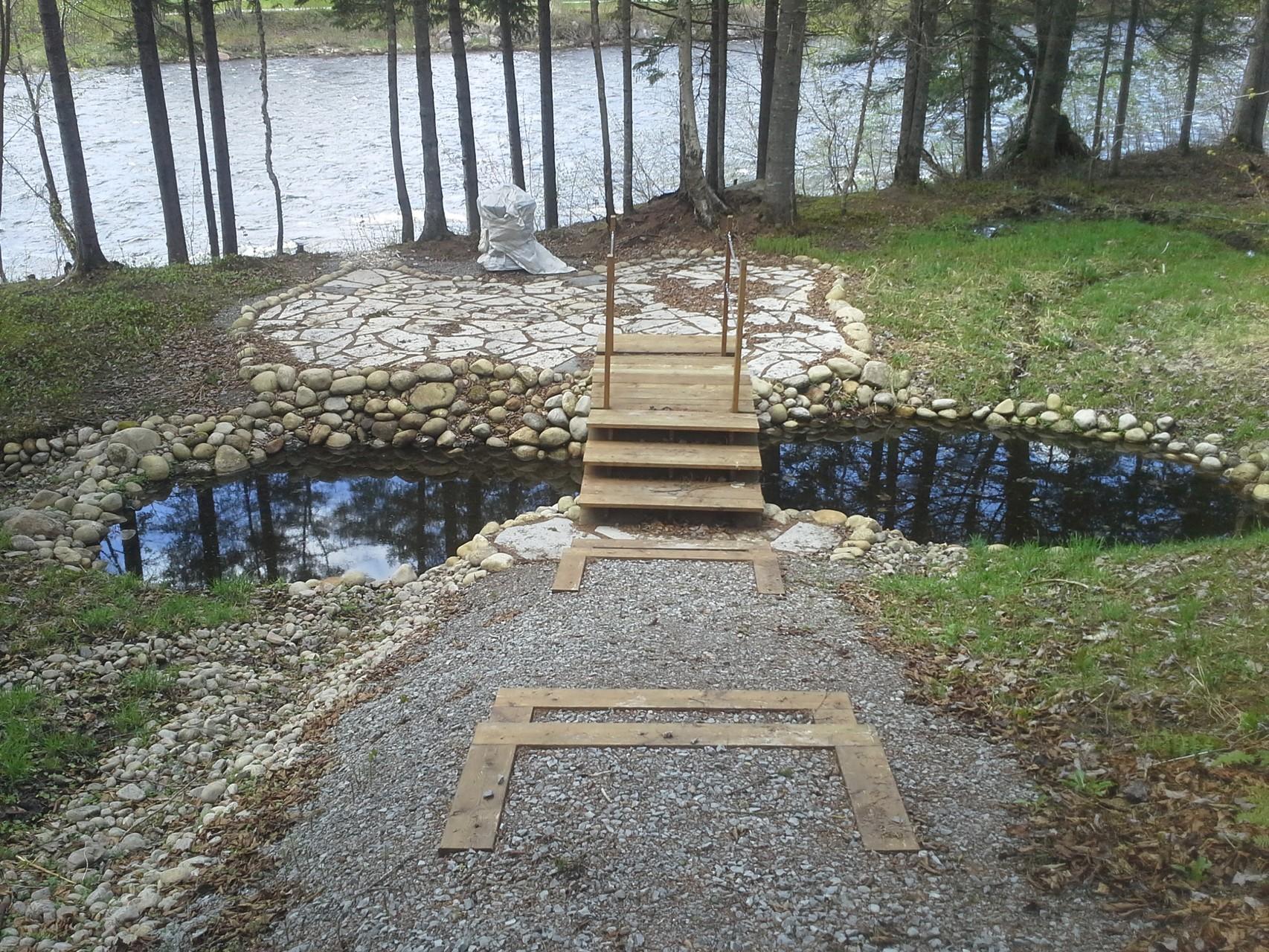 Lac en deux parties