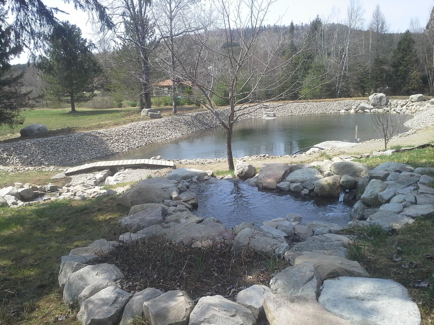 Grand lac en eau