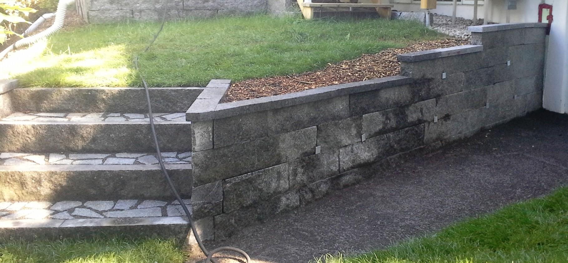 Muret de granit