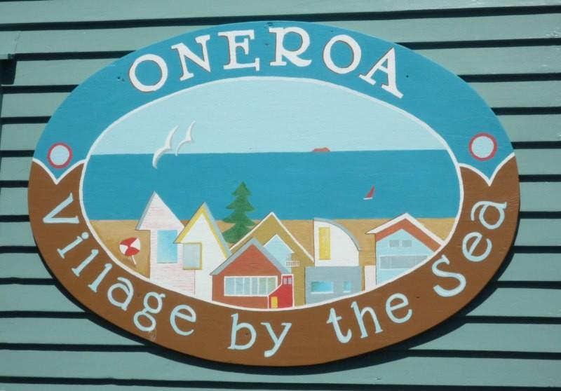 Oneroa, el pueblo principal de la isla