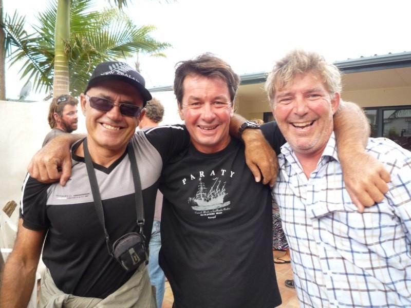 Con Russell y Coli, en la fiesta de Moonwalker
