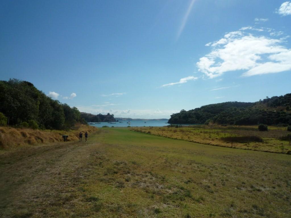 Owhanake Bay, en el noroeste de la isla