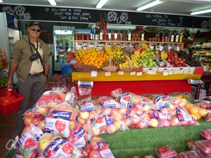 Tienda de productos locales camino a Keri Keri