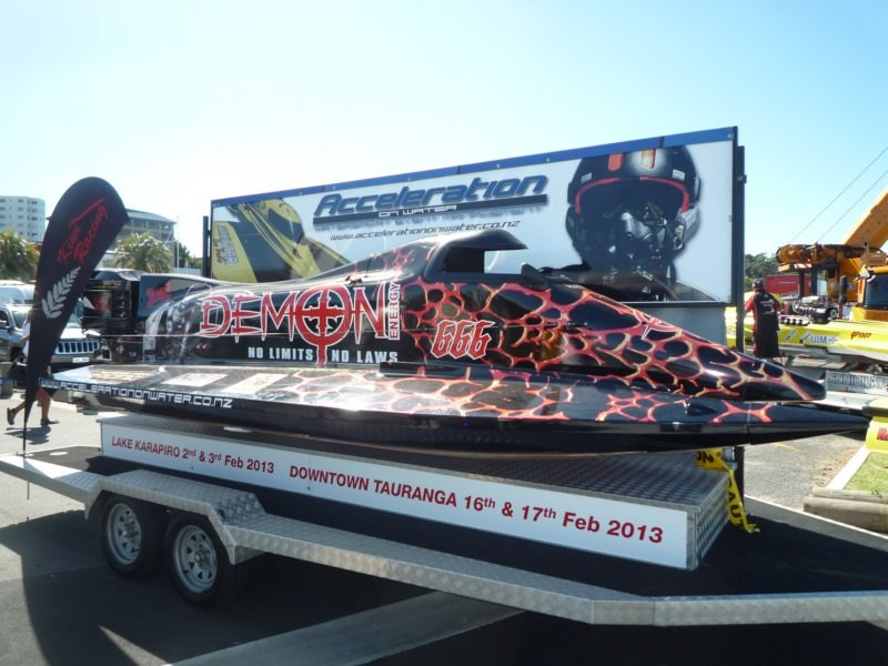 Competicion de Formula 1 de agua. Tauranga