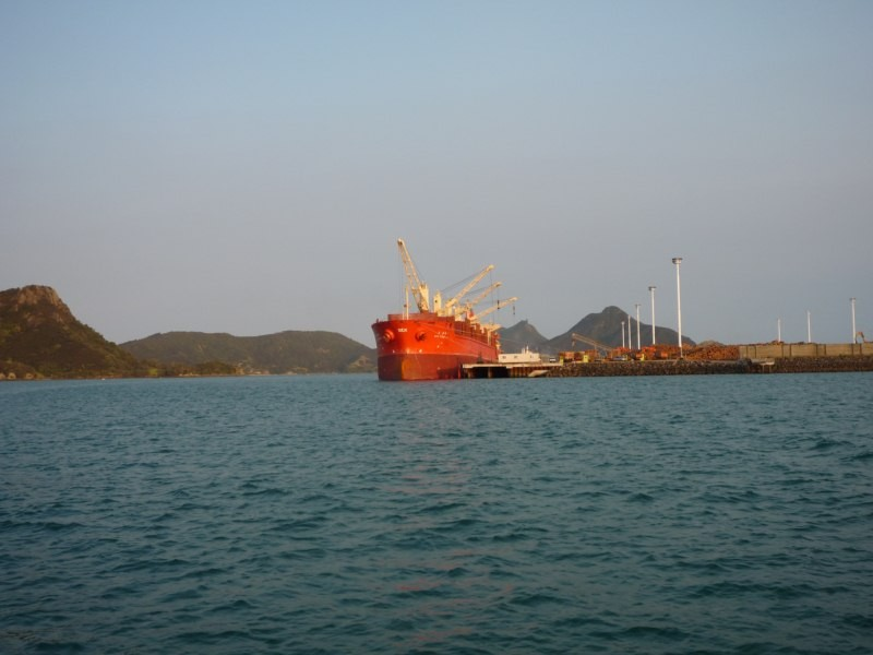 Cargo ship en Mardens Cove