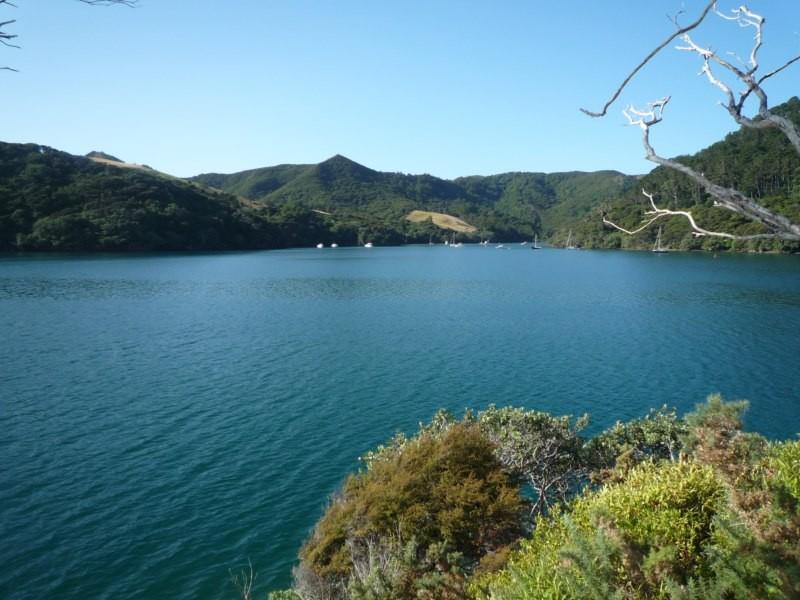 Vista del fondeadero desde Quoin Island
