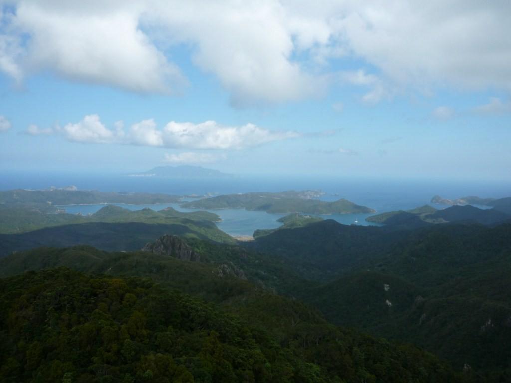 Vistas de la bahía Fitzroy desde Mt. Hobson