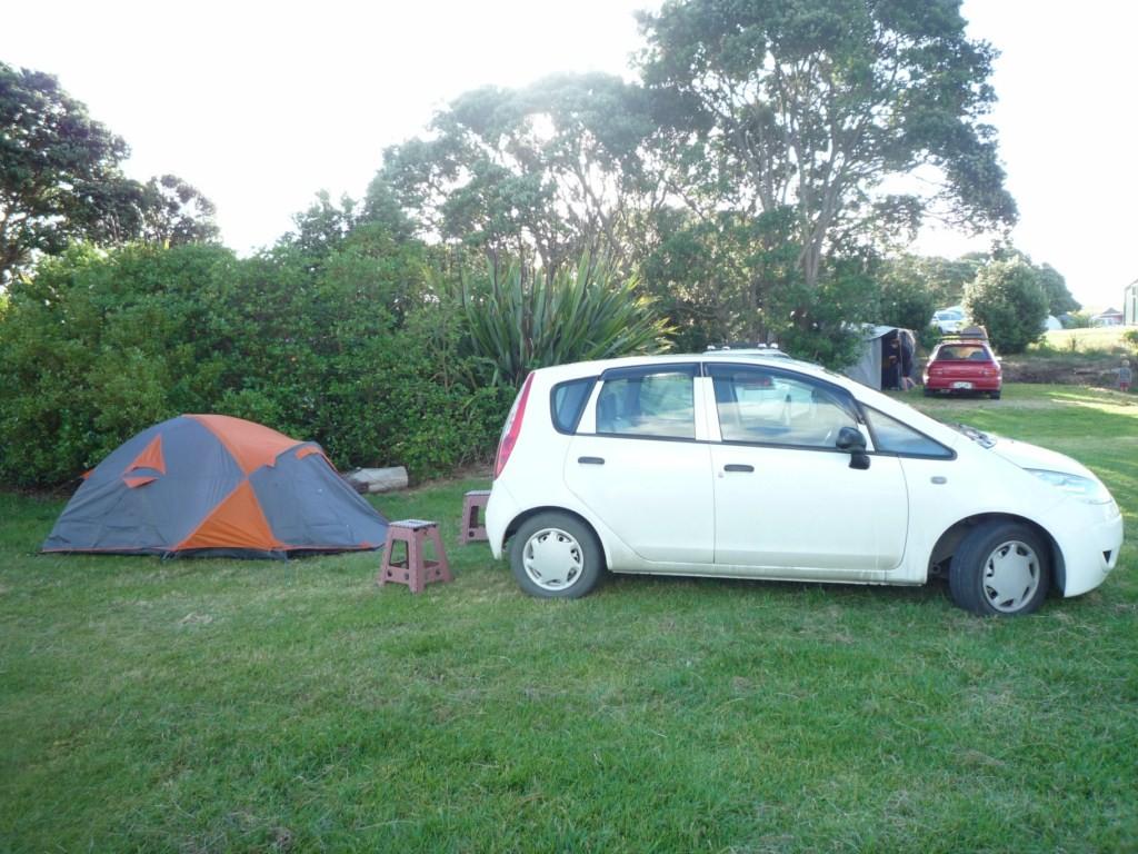 Primera acampada Rarawa Beach