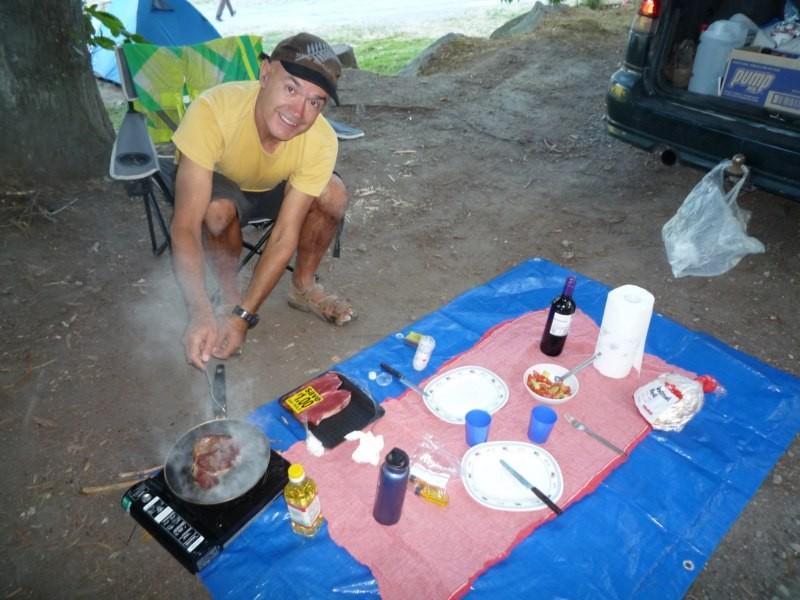 Celebrando el cumple de Jose, en camping Reids, Taupo