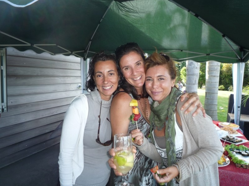Virgi, con Karin y Mercedes