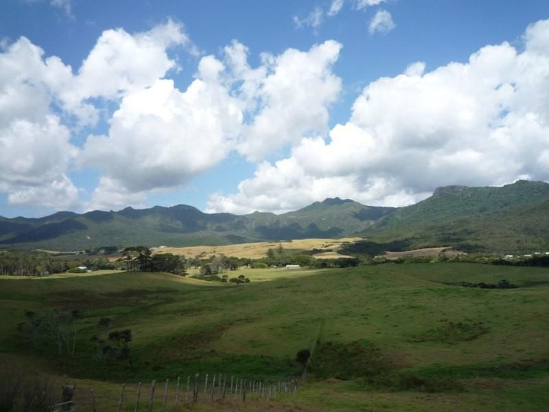 Vistas de Whangapoua, al este de la isla