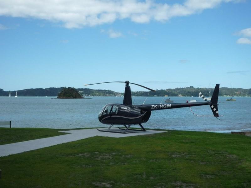 Excursiones en helicóptero para los turistas, en Paihia