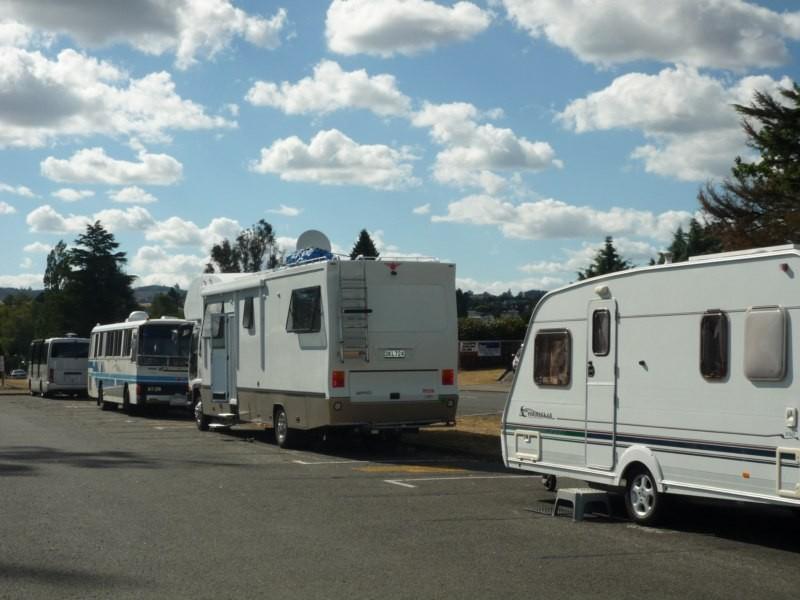 Caravanas por todas partes, en Taupo
