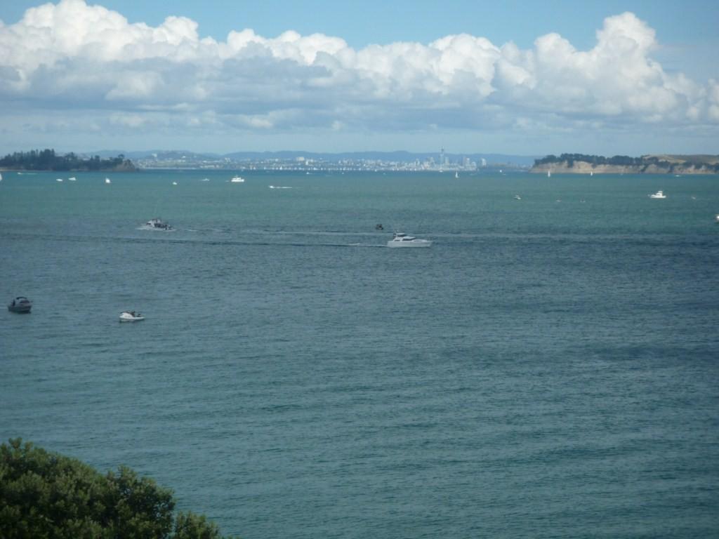 Se contempla Auckland desde la isla