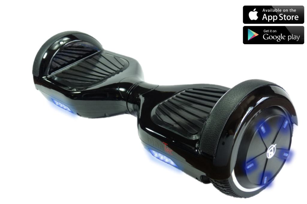 binntec hoverboard n2 blue shining led s mit bluetooth und app steuerung binntec hoverboards. Black Bedroom Furniture Sets. Home Design Ideas