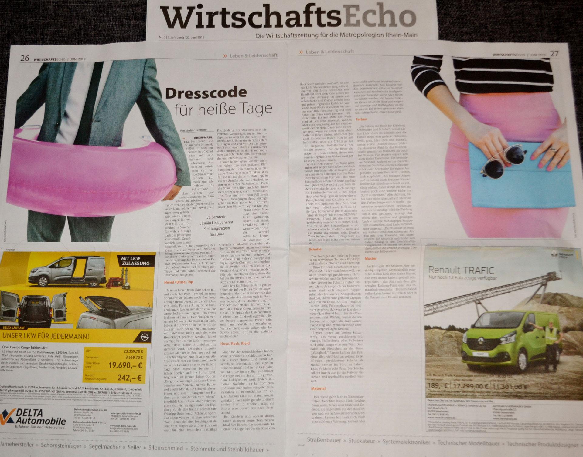 Büro-Stylingtipps im WirtschaftsEcho Rhein-Main